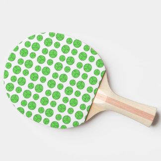 Green volleyballs ping pong paddle