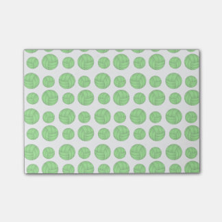 Green volleyballs post-it® notes
