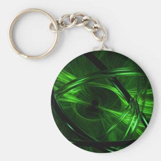 Green Vortex Keychain
