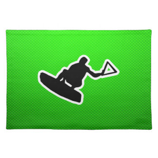 Green Wakeboarder Placemat