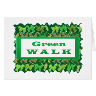 GREEN WALK greenwalk Greeting Card