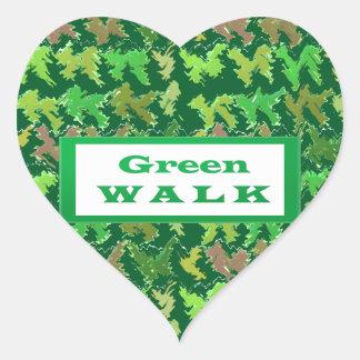 GREEN WALK greenwalk Heart Sticker