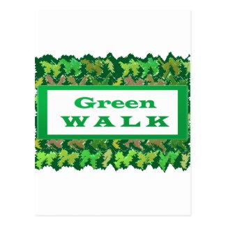 GREEN WALK greenwalk Postcard