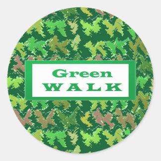 GREEN WALK greenwalk Round Sticker