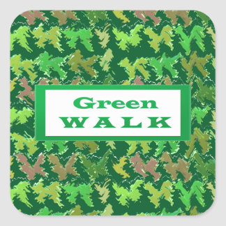 GREEN WALK greenwalk Square Sticker