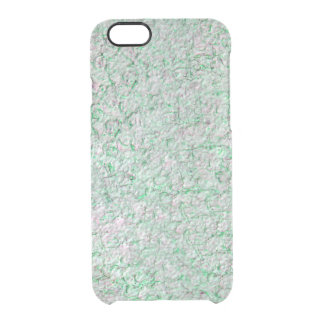 Green wall background clear iPhone 6/6S case