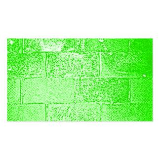 Green Wall Digital Art Business Cards