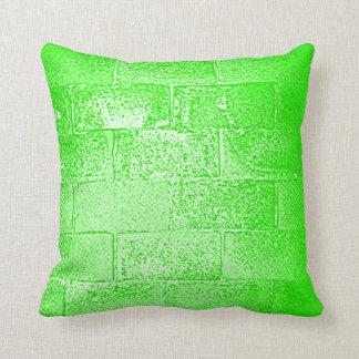 Green Wall. Digital Art. Cushion