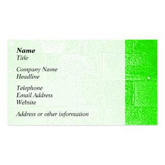 Green Wall. Digital Art. Pack Of Standard Business Cards