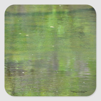 Green water colors. square sticker