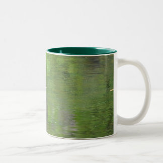 Green water colors. Two-Tone coffee mug