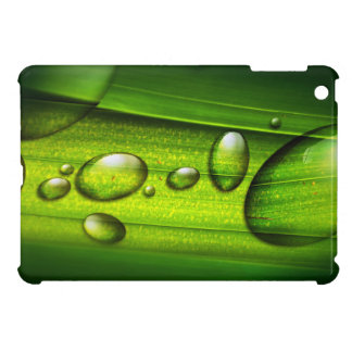 Green Water Drops Case For The iPad Mini