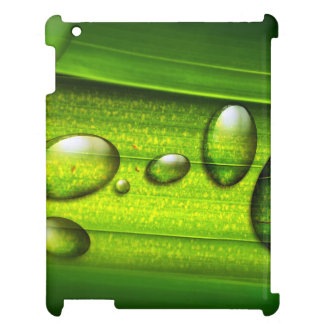 Green Water Drops Case For The iPad