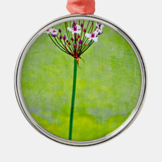 green water lily christmas ornament