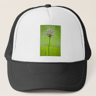 green water lily trucker hat