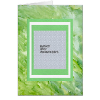 Green Watercolor Abstract Picture Album Template