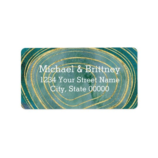 Green Watercolor Agate | Address Labels
