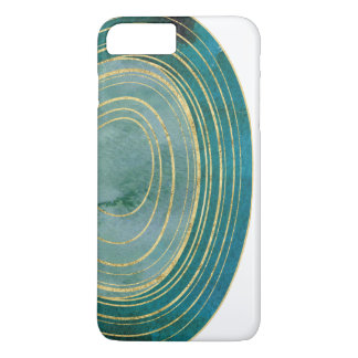 Green Watercolor Agate with Gold Accent | iPhone 8 Plus/7 Plus Case