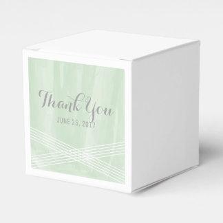 Green Watercolor Deco Wedding Favour Box