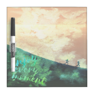 Green Watercolor Jogging Running Inspirational Dry Erase Board
