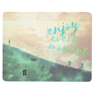 Green Watercolor Jogging Running Inspirational Journal
