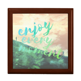 Green Watercolor Jogging Running Typography Gift Box