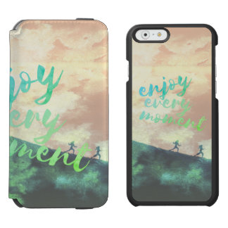 Green Watercolor Jogging Running Typography Incipio Watson™ iPhone 6 Wallet Case