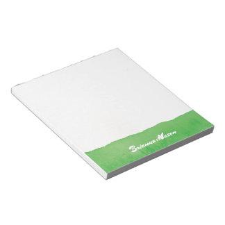 Green Watercolor Notepad