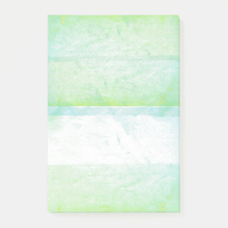 Green Watercolor Paint Screen Print Artistic Post-it Notes