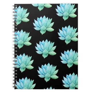 Green Watercolor Succulent Notebook