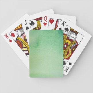 Green Watercolour Marble Playing Cards