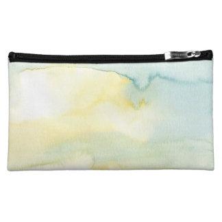 Green Watercolour Wash Tie Dye Cosmetics Bag