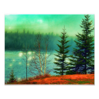Green waters landscaping photographic print