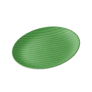 Green Wave Pattern Plate