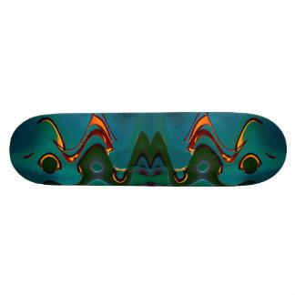 Green Waves 21.3 Cm Mini Skateboard Deck