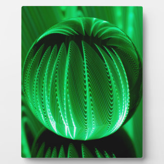 Green Waves in the glass ball Plaque