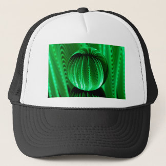 Green Waves in the glass ball Trucker Hat
