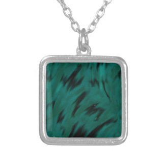 Green Waves Square Pendant Necklace