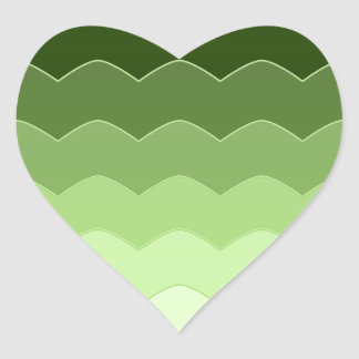 Green waves stickers