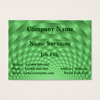 Green Weave Chubby Business Card