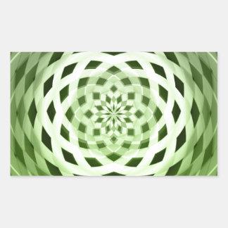green weave rectangular sticker