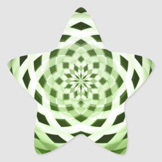 green weave star sticker