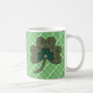 Green Weave with Shamrock Coffee Mug