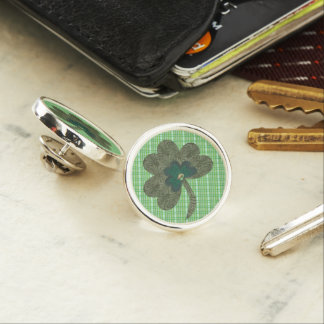Green Weave with Shamrock Lapel Pin