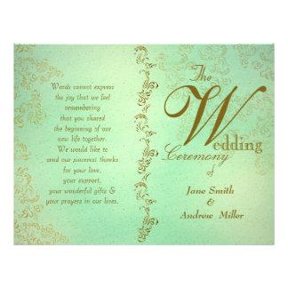 Green wedding programs 21.5 cm x 28 cm flyer