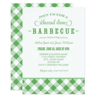 Green Wedding Rehearsal Dinner | Casual BBQ Card