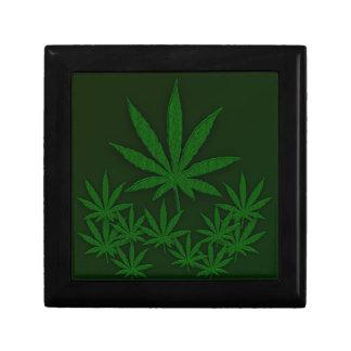 Green Weed Trinket Boxes