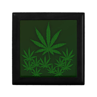 Green Weed Small Square Gift Box
