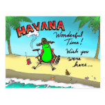 "Green Weenii ""Havana Wonderful Time"" Postcard"