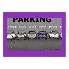 "Green Weenii ""Parking Lot"" Greeting Card"